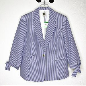 Nwt Anne Klein Striped Blazer Size Large